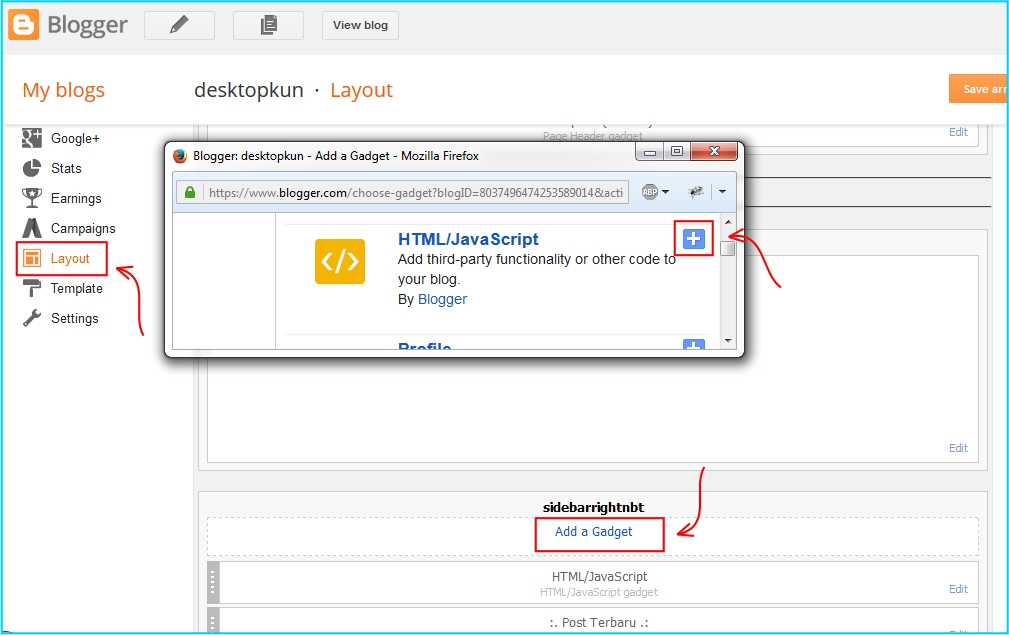 Widget Like Page Facebook - tambahkan widget pada blog
