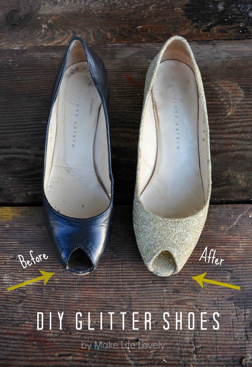 How To Make Gold Glitter Heels Make Life Lovely