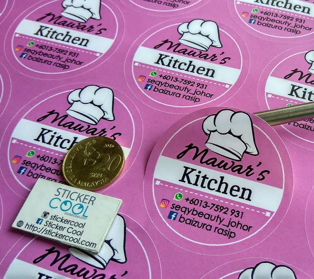 stiker sticker kahwin sticker produk product mudah bagus kalis air waterproof print sticker kuih raya kek biskut buat sticker tempah sticker murah label nama kahwin produk product perniagaan bisnes majlis bulat biasa gold silver transparent lutsinar