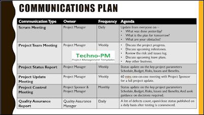 Project Communications Plan, kick-off meeting