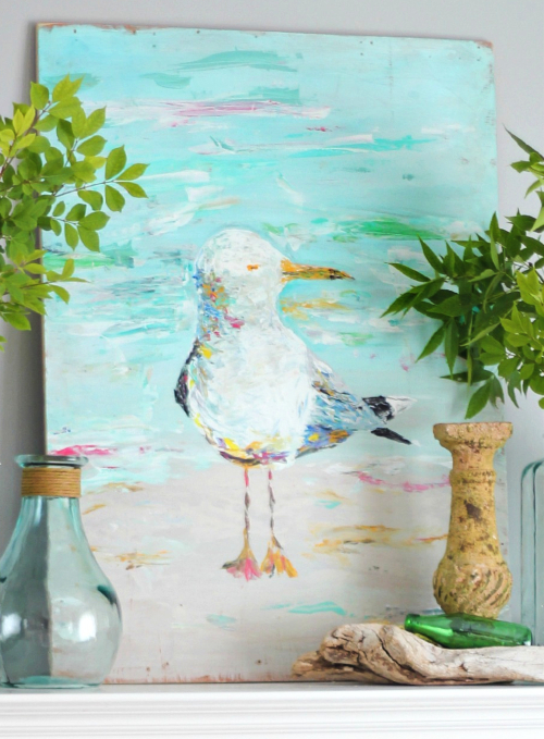 Seagull Painting Art Print