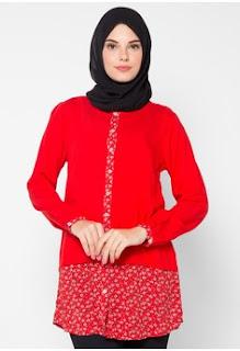 Baju Batik Kerja Untuk Wanita Muslim