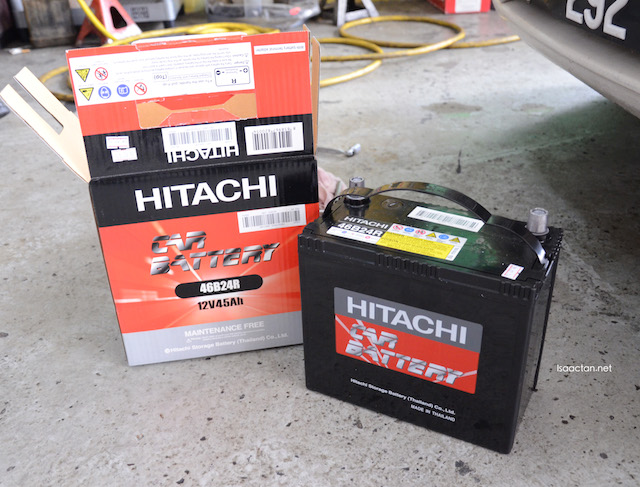 The new Hitachi automotive battery - 46B24R MFX Series