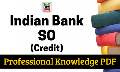 Indian Bank SO Professional Knowledge PDF