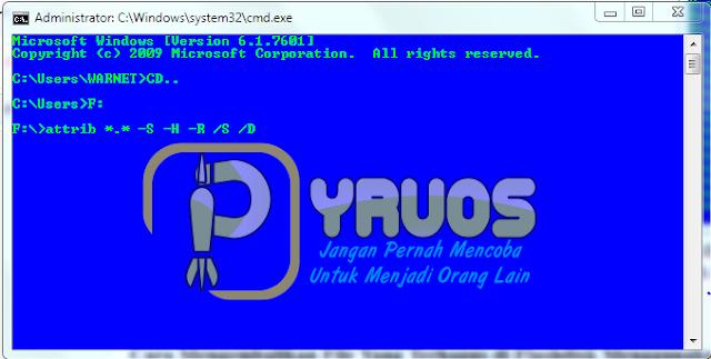 Cara Mengembalikan File Yang Hilang / Terhapus di Flashdisk melalui CMD