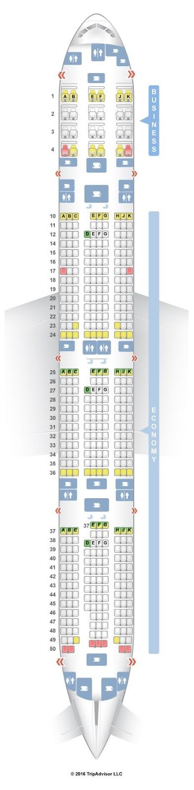 Amazing Boeing 777 300er Seating Chart Seat Inspiration
