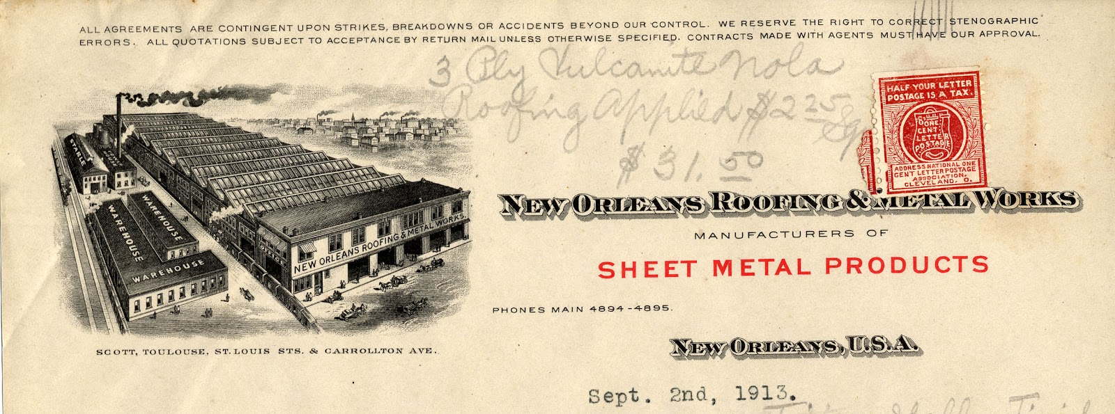 Here Are A Few More Letterheads That Prominently Feature Buildings Crescent City Manufacturing Company