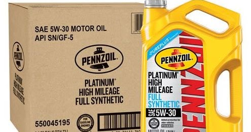 3 Bottles Of 5 Quart Pennzoil Platinum 5w 30 High Mileage