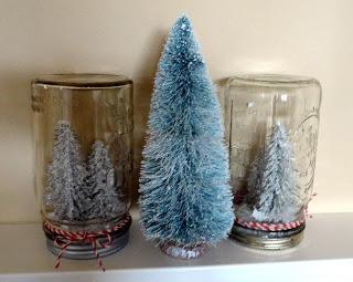 frascos-reciclados-pinos-navideños