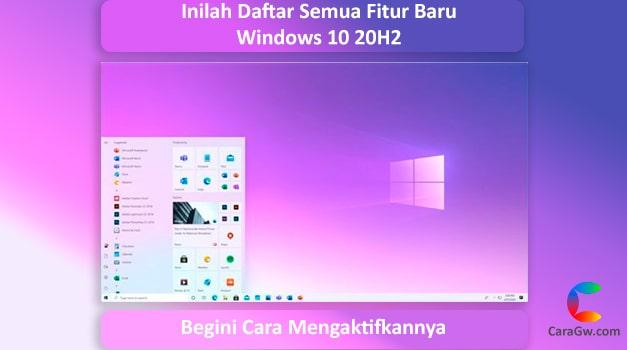 Daftar Semua Fitur Baru Windows 10 20H2, Tersedia Sekarang