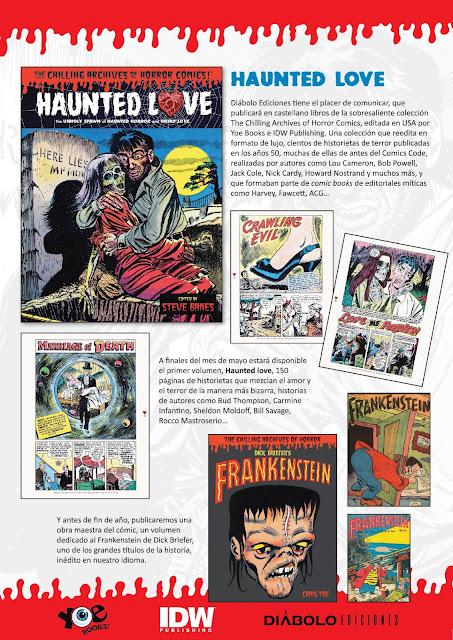 """""""Diabolo Ediciones"""" anuncia el lanzamiento de Yoe Books, cómics de terror americanos de los años 50."""