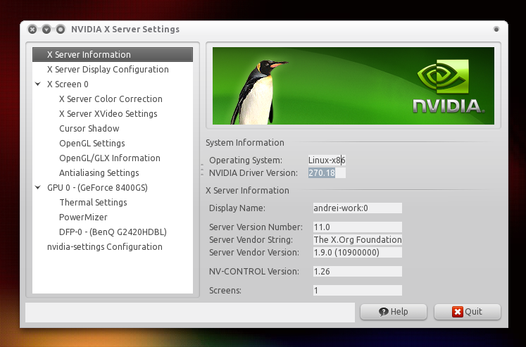 How To Install nVidia 270 18 / 270 26 Display Drivers In
