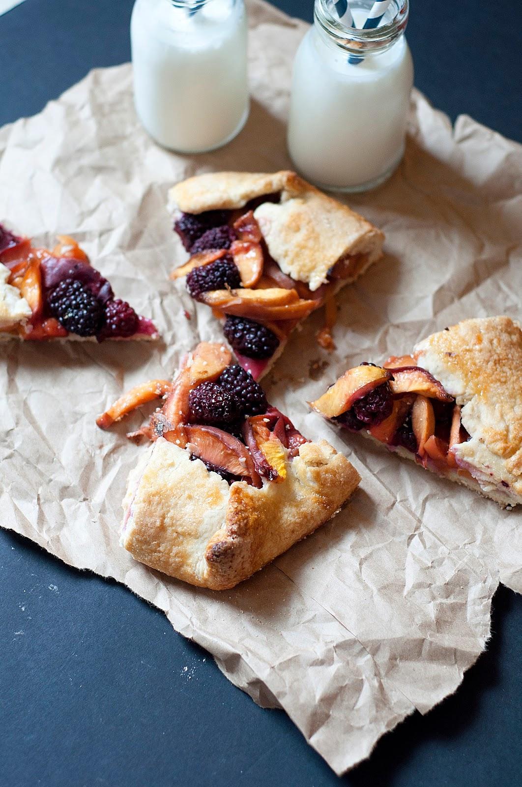 lakyn + judah: blackberry & nectarine galette