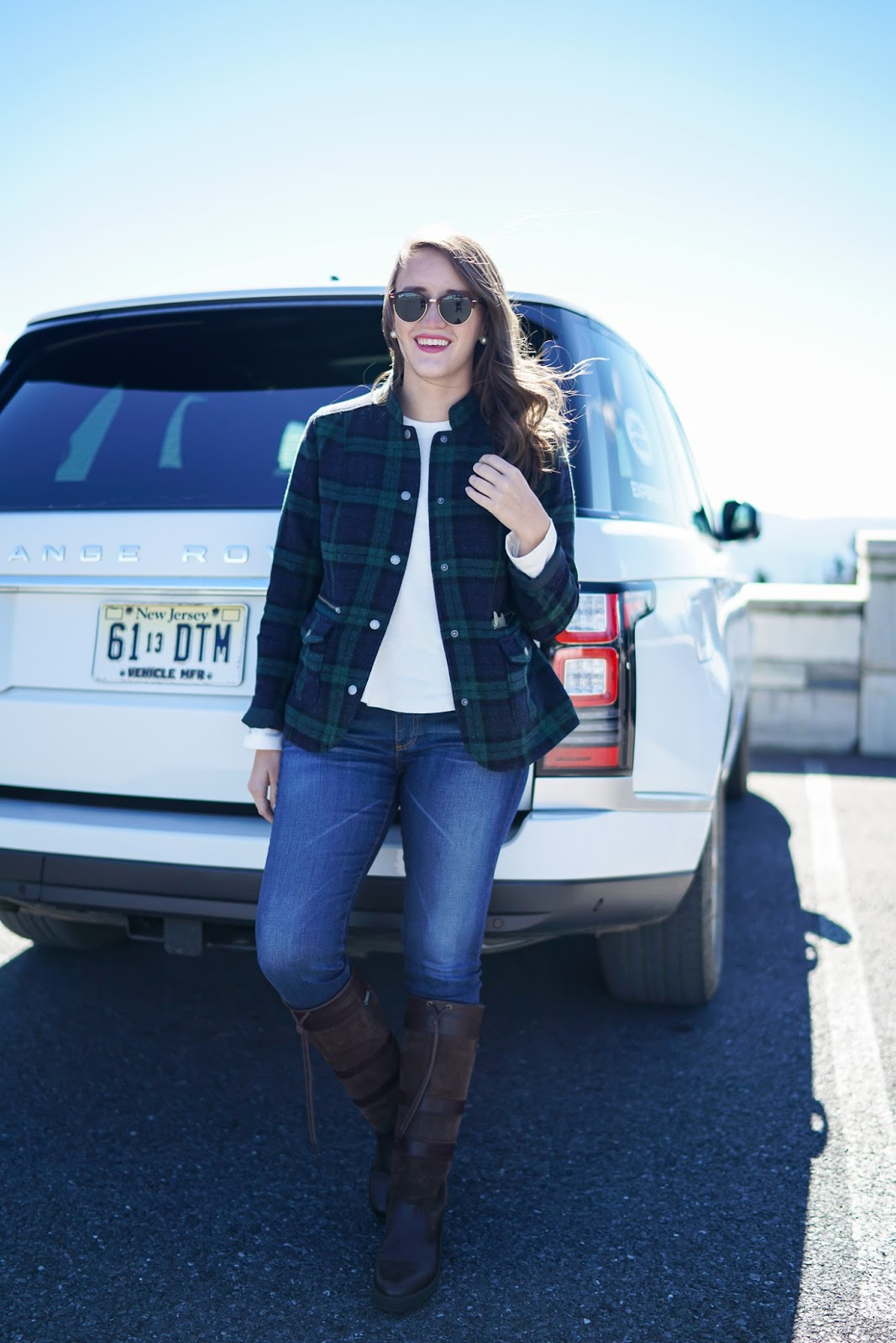 LL Bean Stonington Plaid Jacket