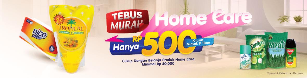 Alfamart - Promo Tebus Murah Cuma 500 Produk Home Care (s.d 15 Okt 2018)