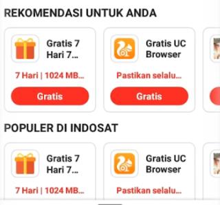 Paket UC Browser Unlimited Gratis Indosat Ooredoo