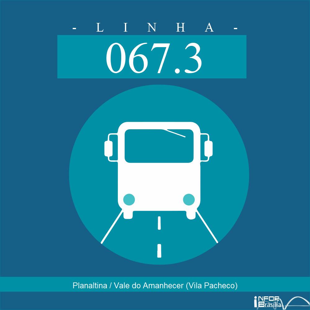 Horário de ônibus e itinerário 067.3 - Planaltina / Vale do Amanhecer (Vila Pacheco)