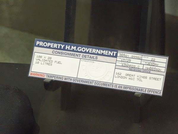 Children of Men fuel voucher film prop