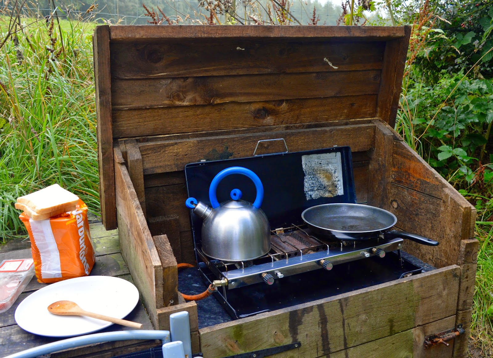 Westwood Yurts | Glamping at National Trust Gibside, County Durham - A Review - outdoor stove/BBQ