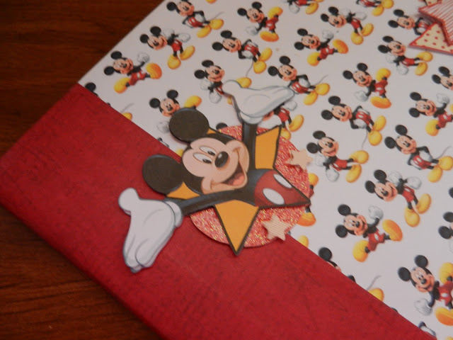 handmade mickey mouse journal