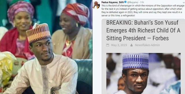 """Nigerians react as """"Forbes names Yusuf Buhari as 4th richest child of a sitting president"""""""