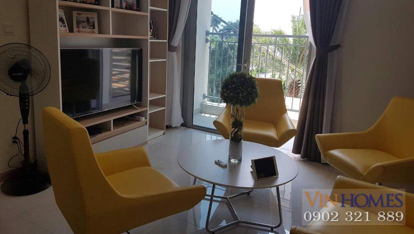 Officetel Vinhomes Central Park cho thuê - view cửa