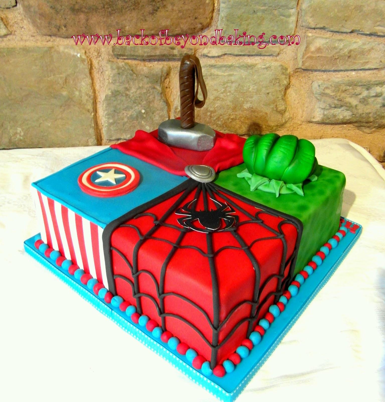 Avengers assemble cake