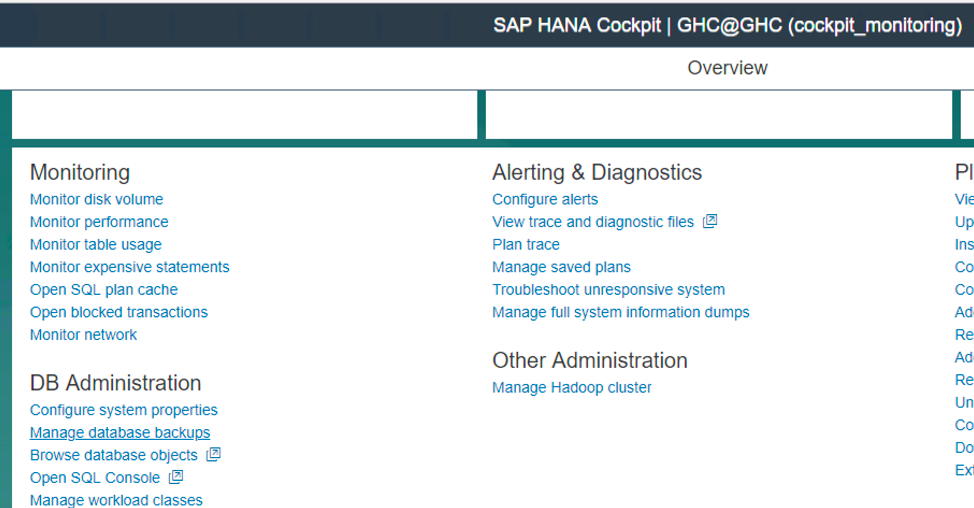 Schedule HANA 2 0 backup using SAP HANA Cockpit 2 0 SPS 06