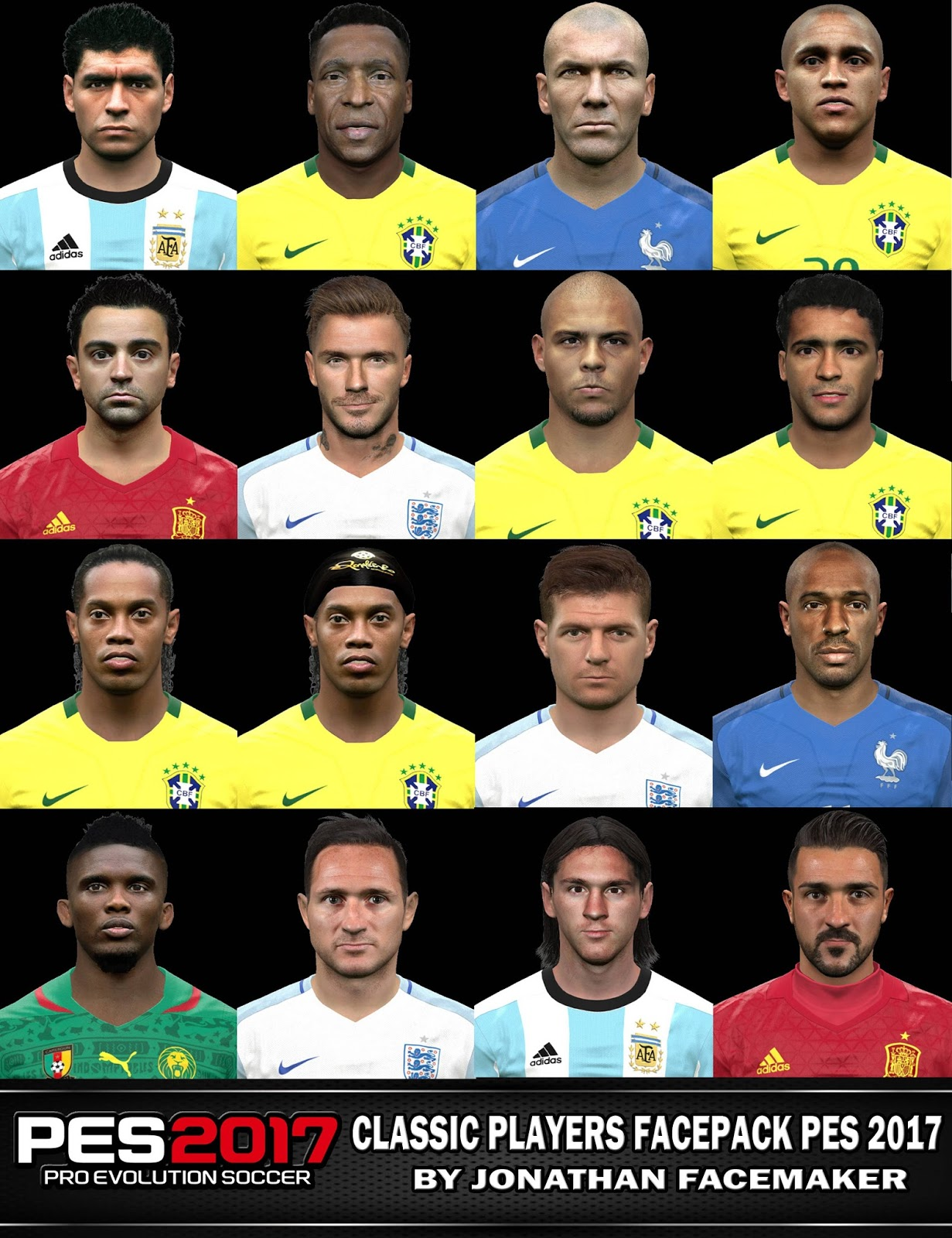 Classic Players Facepack PES 2017 by Jonathan Facemaker c7aaf228f