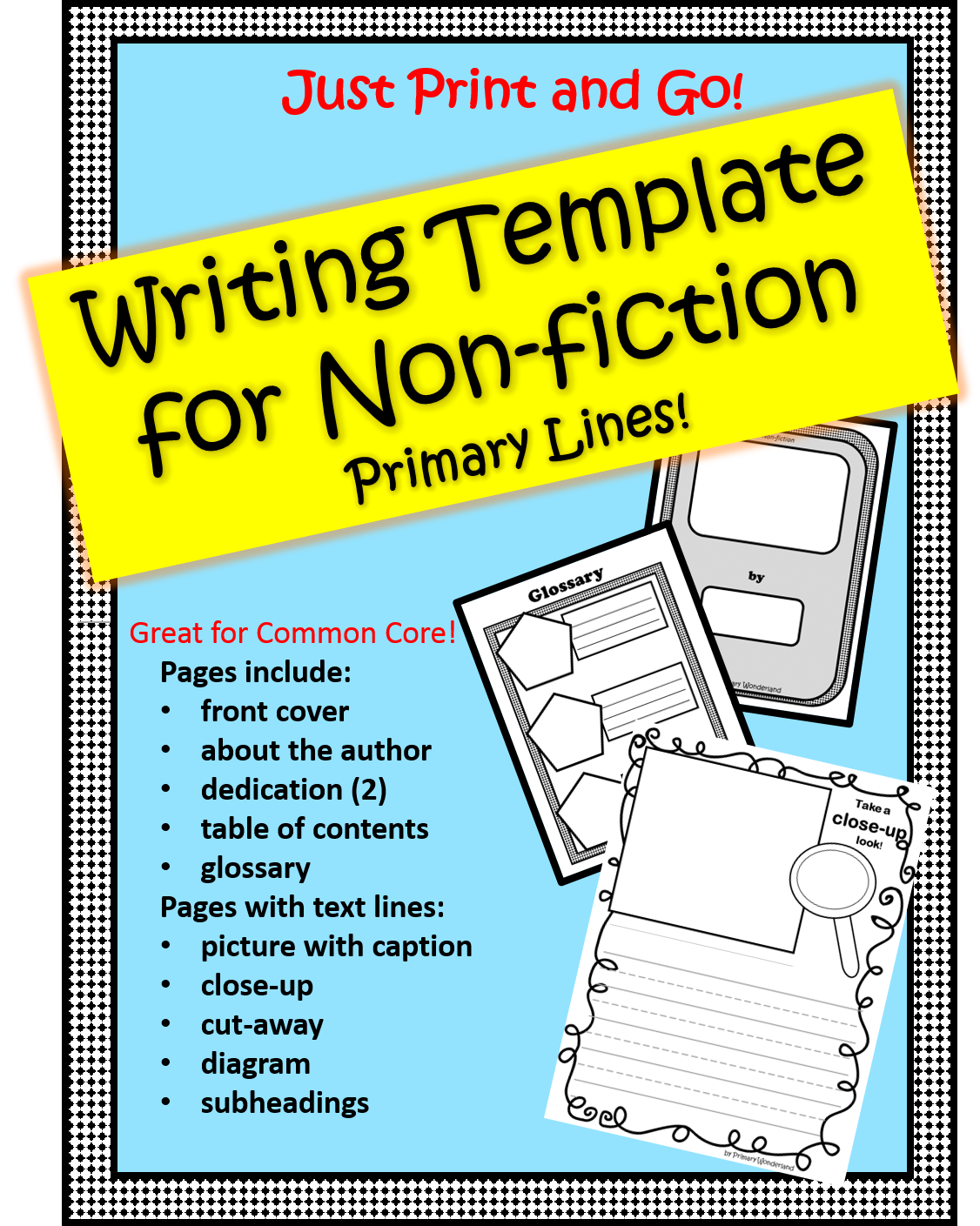 Non-fiction Template- Primary Lines!
