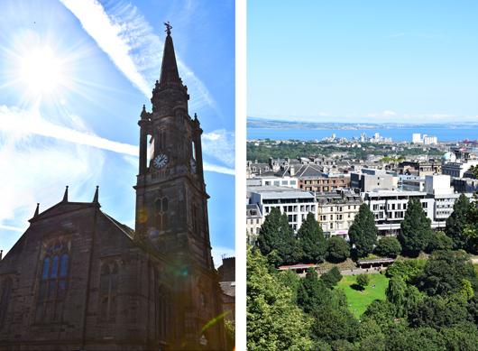 Sicht vom Calton Hill in Edinburgh