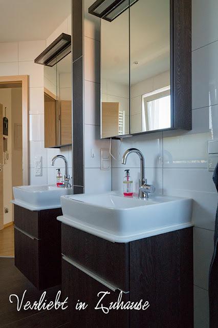 In Gedenken an die Badplanung: Es wurden zwei getrennte Waschplätze