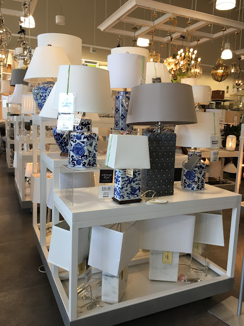 Lamp section of Homesense