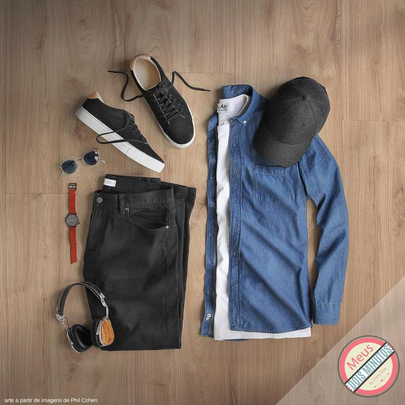 roupa e boné para homem