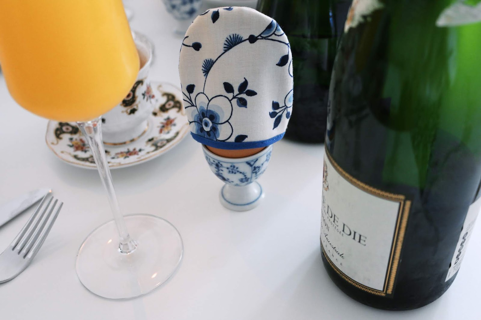 New years brunch with mimosas
