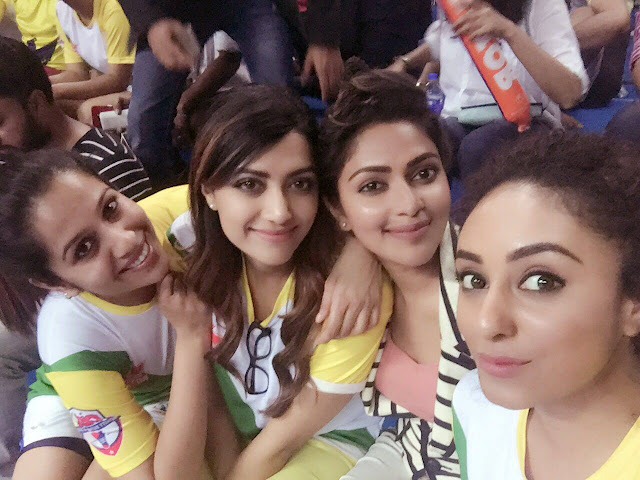 Actress Amala Paul at CBL MATCH