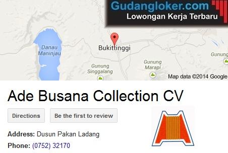 Lowongan Kerja CV. Ade Busana Collection