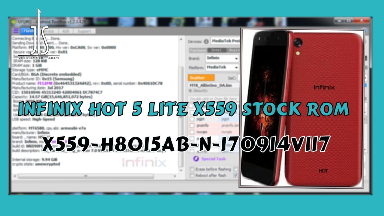 الروم المسحوب لهاتف INFINIX X559 إصدار
