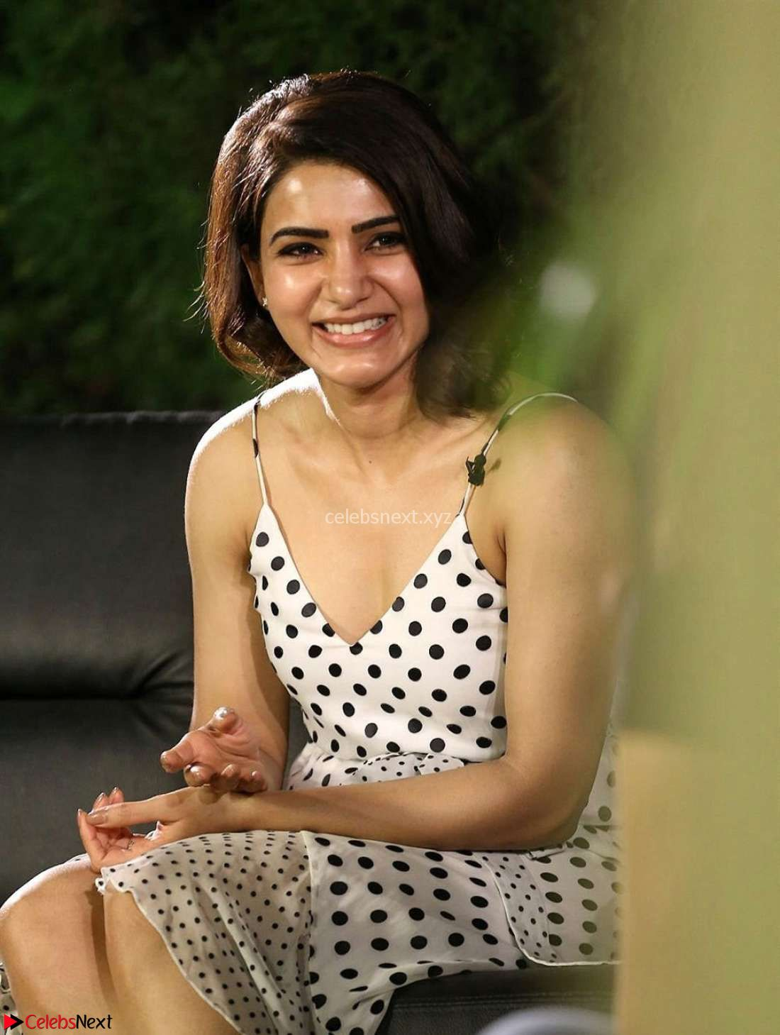 Samantha Ruth Prabhu looks super cute in a deep neck sleeveless short dress ~ CelebsNext Exclusive