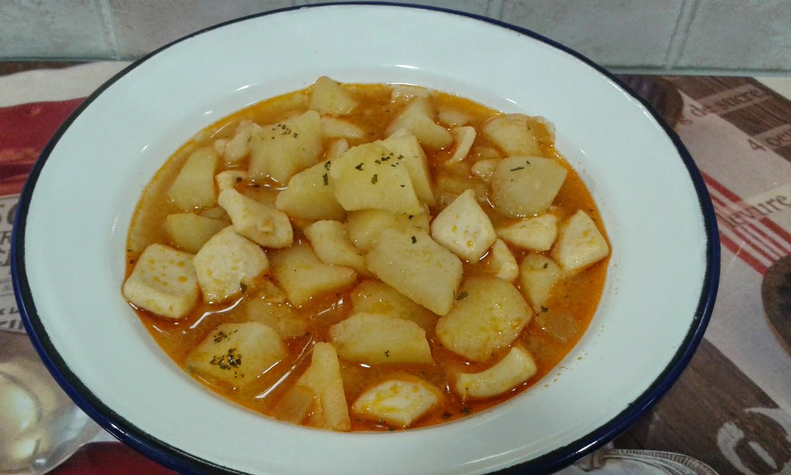 Recetas con encanto sepia guisada con patatas cookeo - Patatas en olla rapida ...
