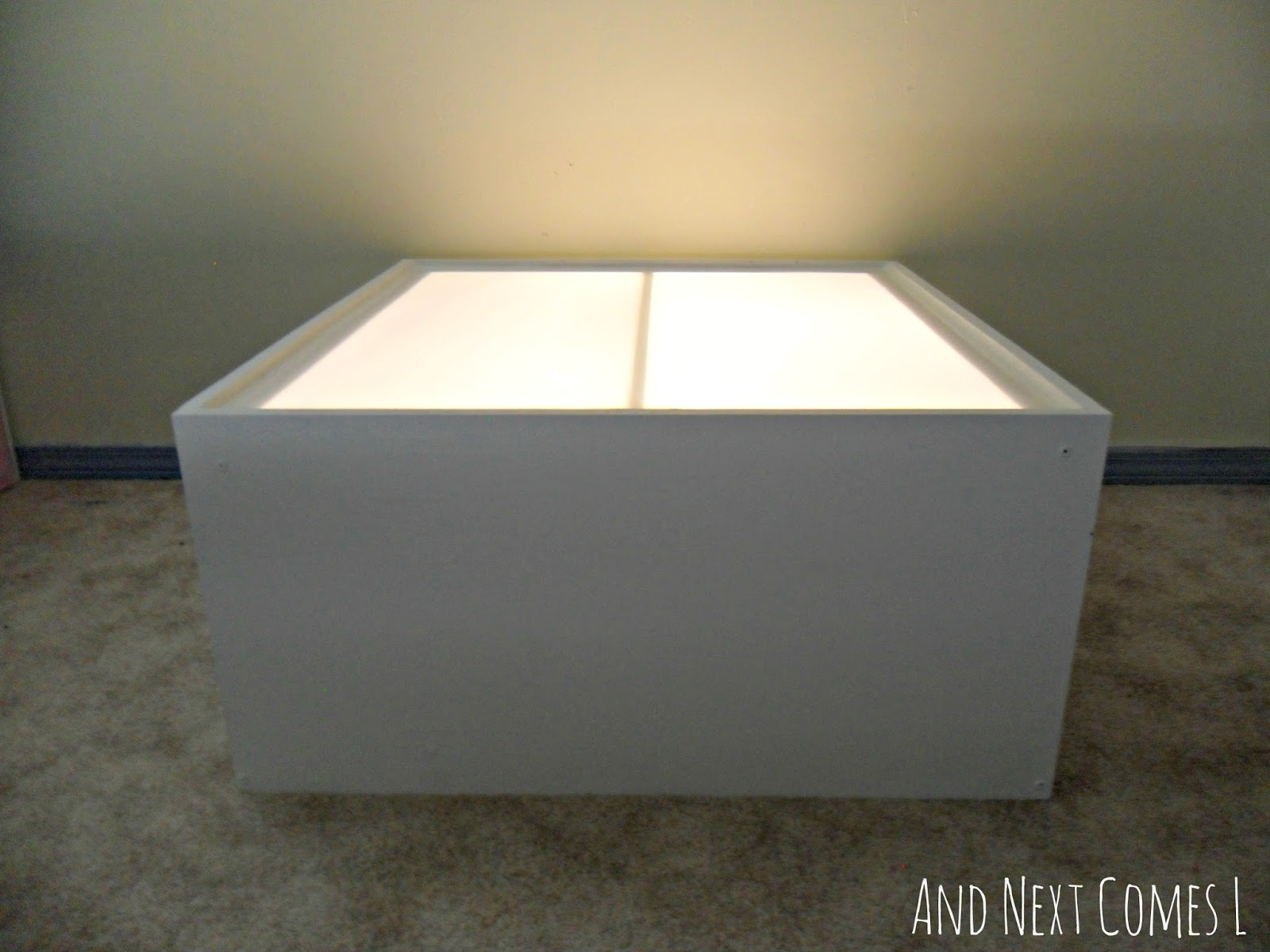 Diy Light Table Tutorial Made From An Old Entertainment Center And Next Comes