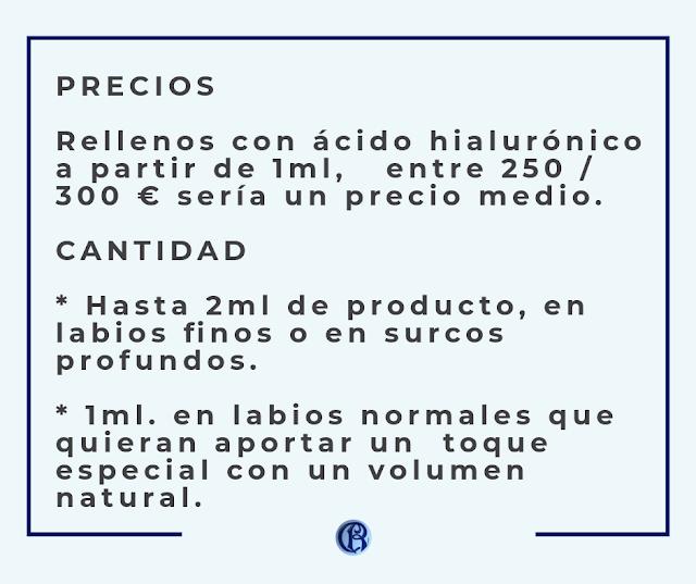 Consejo precios ácido hialurónico