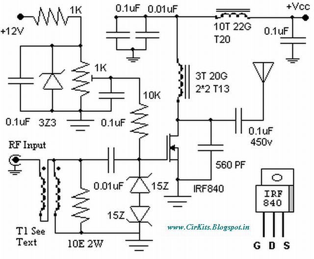 60 watts linear amplifier with irf840