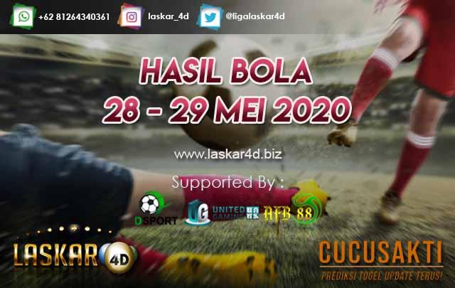 HASIL BOLA JITU TANGGAL 28 – 29 MEI 2020