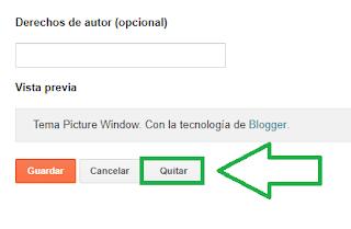 Cómo quitar Con la tecnología de Blogger - Charkleons.com