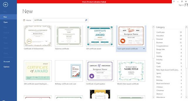 Cara membut sertifikat / ijasah di ms word