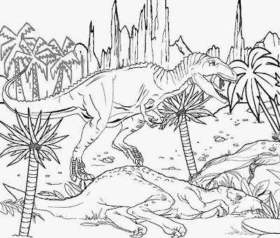 Cretaceous Period scavenger meat eating dinosaur giganotosaurus worlds largest carnivorous coloring