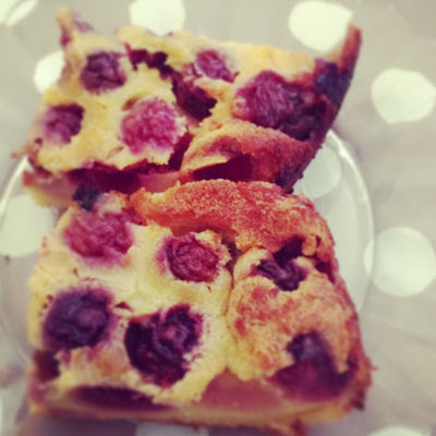 french cherry cake - clafoutis