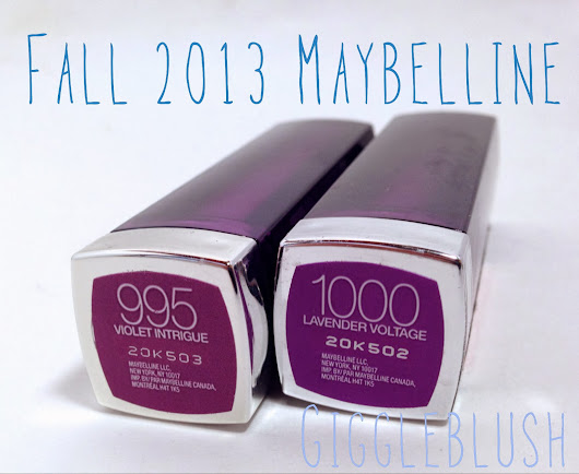 Maybelline Fall 2013 Lipsticks