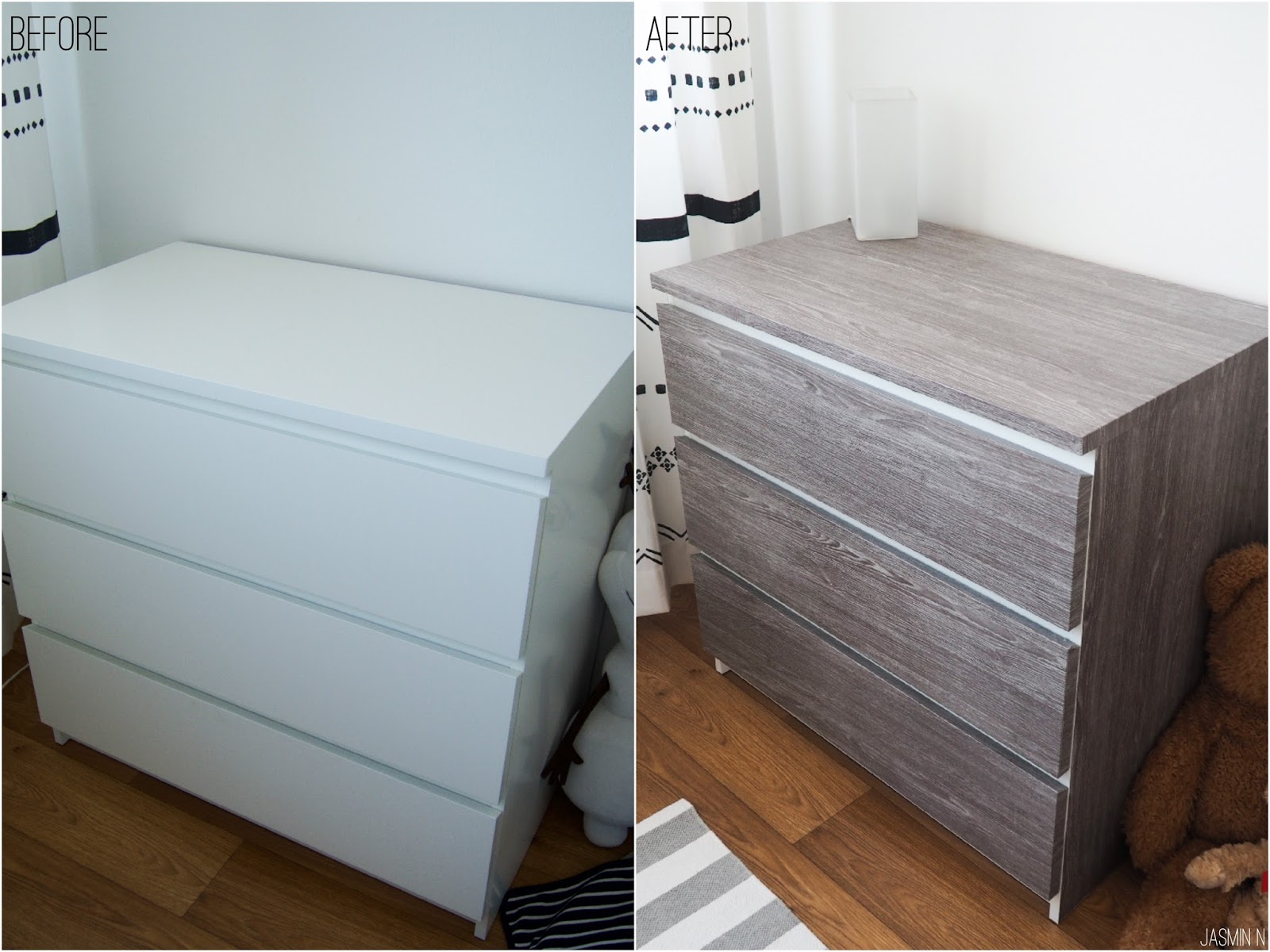 Little things with jassy diy new look for ikea malm drawer for Ikea schreibtisch malm weiay